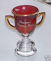 Vintage Paxico KS Souvenir Ruby Flash Glass Loving Cup